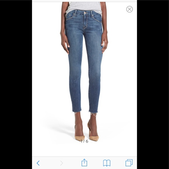 Mother Denim The Looker Skinny Jeans Cherry Pickin Wash Sizes 24 25 26 29